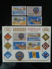 BARBADOS 1969 BARBADOS BOY SCOUTS SET 4v & 4v M/S MH MINT SG393/MS397 CV £17