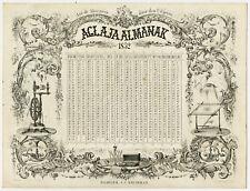 Antique Master Print-ADVERTISEMENT-ALMANAC-PORCELAINCARD-FASHION-Lankhout-1852