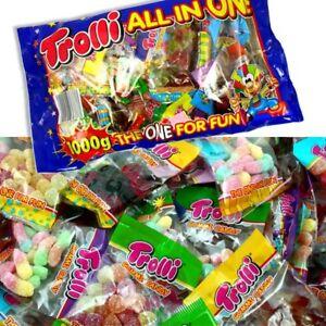 Trolli All in One Süßigkeiten-Mix 1 kg für Kindergarten und Kinder-Geburtstag