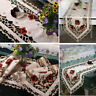 Elegant Table Runner Embroidery Rose Vintage Wedding Party Decor Doily Table Mat