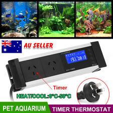 LED Reptile Thermostat Aquarium Timer Cooling Heating Temp Controller AU Plug