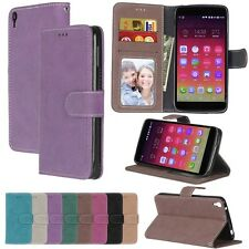 For Alcatel Samsung Series Phones Wallet ID Card Matte Leather Case Cover TPU DK