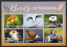 Tanzania 2015 MNH Birds of Tanzania 6v M/S Storks Lovebirds Jacanas Stamps