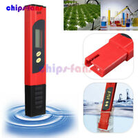Digital Pocket LCD PH Meter Tester Pen Hydroponics Aquarium Pool Water Measure
