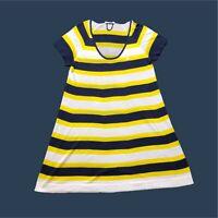 Womens Lacoste Dress Medium/40 Striped Multi Colour Beach Style