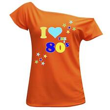 Women I Love The 80's T Shirt Retro Pop Star Ladies Hen Fancy Party Top Outfit