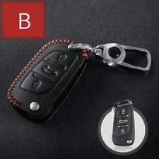 Genuine Leather Car Key  remote cover case Hand Sew  3 Buttons Folding Key