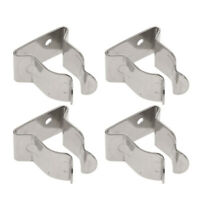 4x 304 Stainless Steel Marine Boat Hook Holder Clips -5/8inch To 1inch Tube