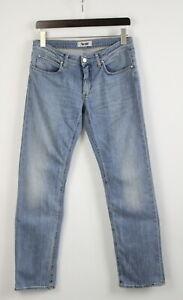 ACNE HEP BEYOND Men's W31/L32 Stretchy Light Blue Whisker Wash Jeans 22372-JS