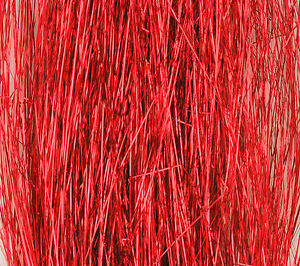 Red Flashabou accent flash for tying flies jig lure 1500 tinsel strand hank