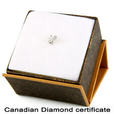14k White Gold Pendant with .08CT Canadian Certified diamond. CDP-1