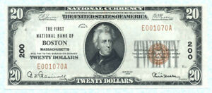 UNITED STATES 20 Dollars 1929 BOSTON P397 AU/UNC