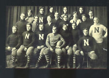 REAL PHOTO 1902 NEBRASKA CORNHUSKERS FOOTBALL TEAM PLAYERS POSTCARD COPY
