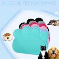 Pet Dog Cat Puppy Feeding Mat Placemat Water Food Eating Dish Bowl Silicone Pad