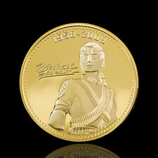 Michael Jackson 24 Karat Gold vergoldet Gedenkmünze Geschenk Tool
