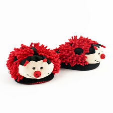 Lady Bug Slippers - Red Aroma Home Fuzzy Friends Slippers