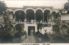 PERU LIMA PALACIO DE LA PERRICHOLI #71 REAL PHOTO