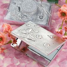 100 Elegant Butterfly Design Compact Favor Sweet Sixteen Bridal Wedding Bulk Lot