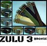 ZULU 3 RING NYLON BRONZE HARDWARE MILITARY DIVE WATCH BAND/STRAP 20mm/22mm/24mm