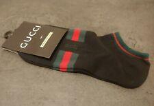 G Designer Socks - Black Unisex Women's Men's Green Red Striped NEW
