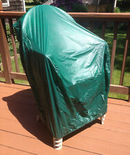 Vinyl 4-Stack Resin Chair Cover - Green Durable Outdoor Patio Protection