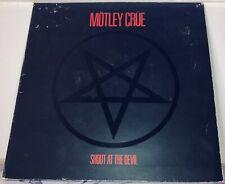 New listing motley crue shout at the devil vinyl - elektra 9-60289-1 - 1983