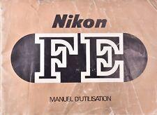 Manuel d'utilisation pour appareil photo Nikon FE (Français)