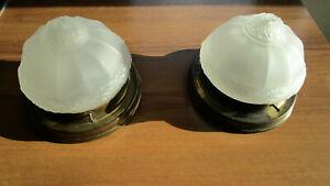 2 alte Deckenlampen, Wandlampen