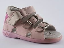 Boomers Girls' Shoes 20 Nubuck Pink Beige Pink Sandals New