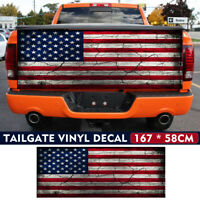 167x58cm USA American Flag Car Truck Pickup Tailgate Wrap Rear Graphic Decal