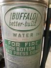 VTG Buffalo Water Fire Extinguisher Stainless  Steel *EMPTY* Piggy Bank Modified