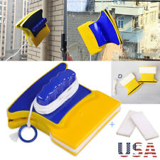 Magnetic Window Cleaning Double Side Car Glass Wiper Brush Pad Cleaner Tool Easy