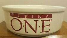 PURINA ONE - LARGE DOG DISH BOWL - PFALTZGRAFF STONEWARE