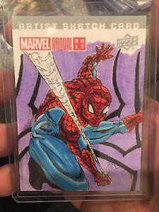 Marvel Annual 2017 Sketch Card Spiderman by Adam Angel 1 of 1 X-men
