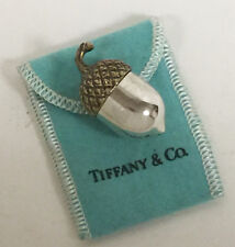 Vintage Tiffany & Co Sterling Silver Acorn with Gold Overlay Pill Box
