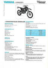 yamaha wr450f 2005  fiche technique revue technique moto YAMAHA WR450