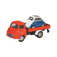 Schuco 452623000 Hanomag Kurier mit BMW Isetta rot Modellauto Maßstab 1:87 NEU!°
