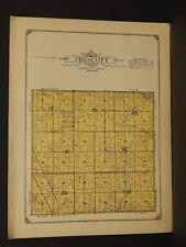 Minnesota Faribault County Map Prescott Township 1913    W3#90