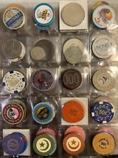 Lot Of 20 Assorted Casino Chips Vegas California Louisiana Roulette Ncv #4