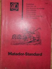 Claas Mähdrescher Matador - Standard Ersatzteilliste