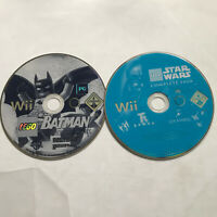 Lego Batman & Lego Star Wars The Complete Saga / Disc Only Nintendo Wii Bundle