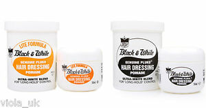 Black and White Hair Wax Genuine Pluko Hair Dressing Pomade Hair Styles