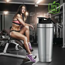 26oz Stainless Steel Shaker Bottle for Protein Shakes, Coffee or Other Beverages