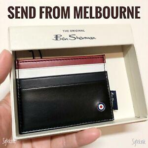 (NEW) Genuine Ben Sherman Premium Leather Wallet Case Card Holder BSWAW2107C