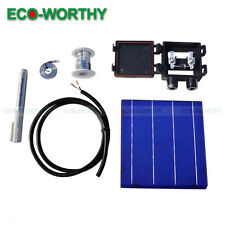 DIY 80W Panel - 20pcs 6x6 Whole Solar Cells KIT w/ Tab, Wire Bus & J-BOX 4.3W/Pc