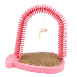 Pet Scratcher And Grooming Arch For Cat Pet Playing Scratching Pink