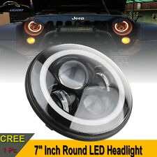 7'' Inch Round LED Headlight For Jeep 97-16 Wrangler JK LJ TJ Hummer Land Rover