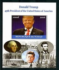 Chad 2016 MNH Donald Trump 45th US Presidents 1v M/S JFK Kennedy Lincoln Stamps