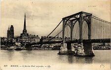 CPA Rouen-L'Ancien Pont suspendu (348776)