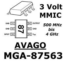 5x mga-87563 LNA Avago 3v 4.5ma low current low noise 0.5-4ghz sot363